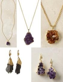 DIY Gold-Dipped Raw Gem Jewelry
