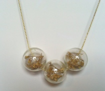 Flowers in Glass Necklace